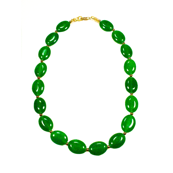 "Emerald Agate and Gold-filled 16"" Necklace - Finesse Jewelry"