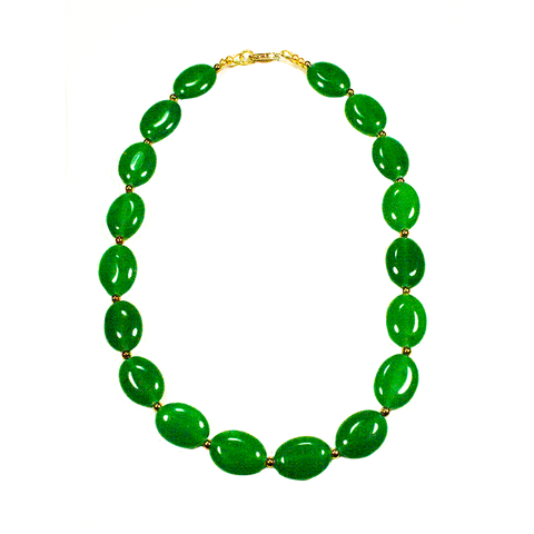 Emerald Agate and Gold-filled 16
