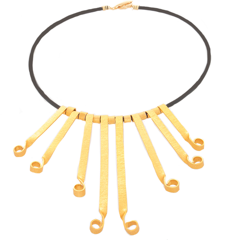 Gold-tone Flair Statement Necklace