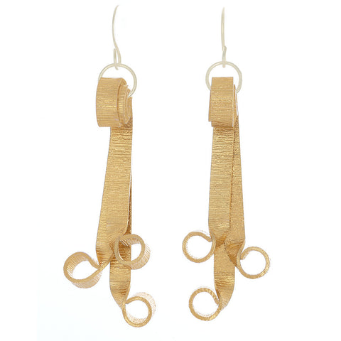Gold-tone Flair French Hook Earrings - Finesse Jewelry