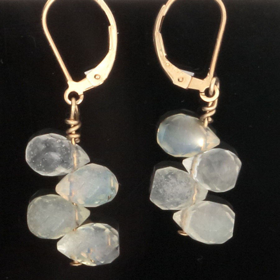 Lemon Quartz Briolli Bead lever back Earrings - Finesse Jewelry