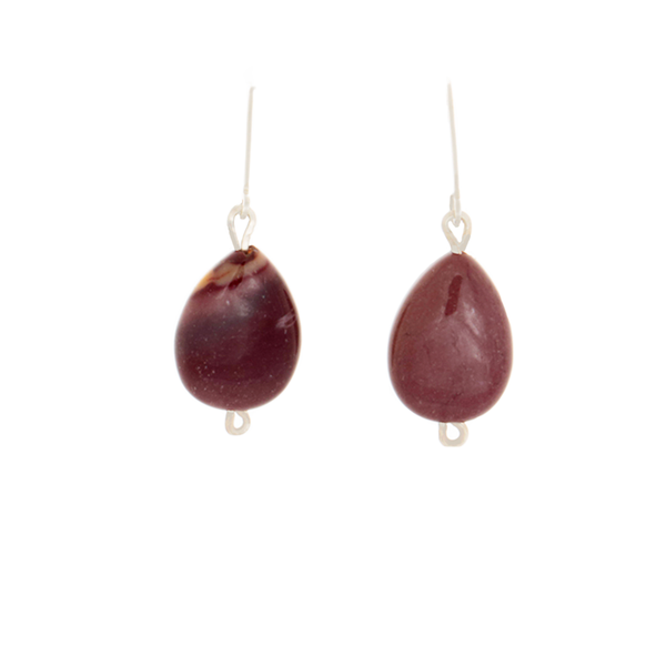 Mookite Teardrop stone Earrings on Sterling Lever Back Ear Wires - Finesse Jewelry
