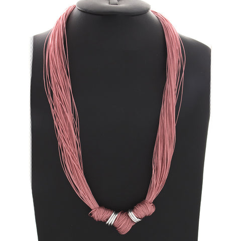 Multi-Strand Knotted Grace necklace - Rose - Finesse Jewelry