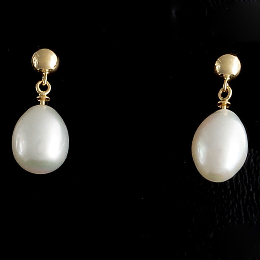 Pearl Teardrop Earrings - 18k solid gold - Finesse Jewelry