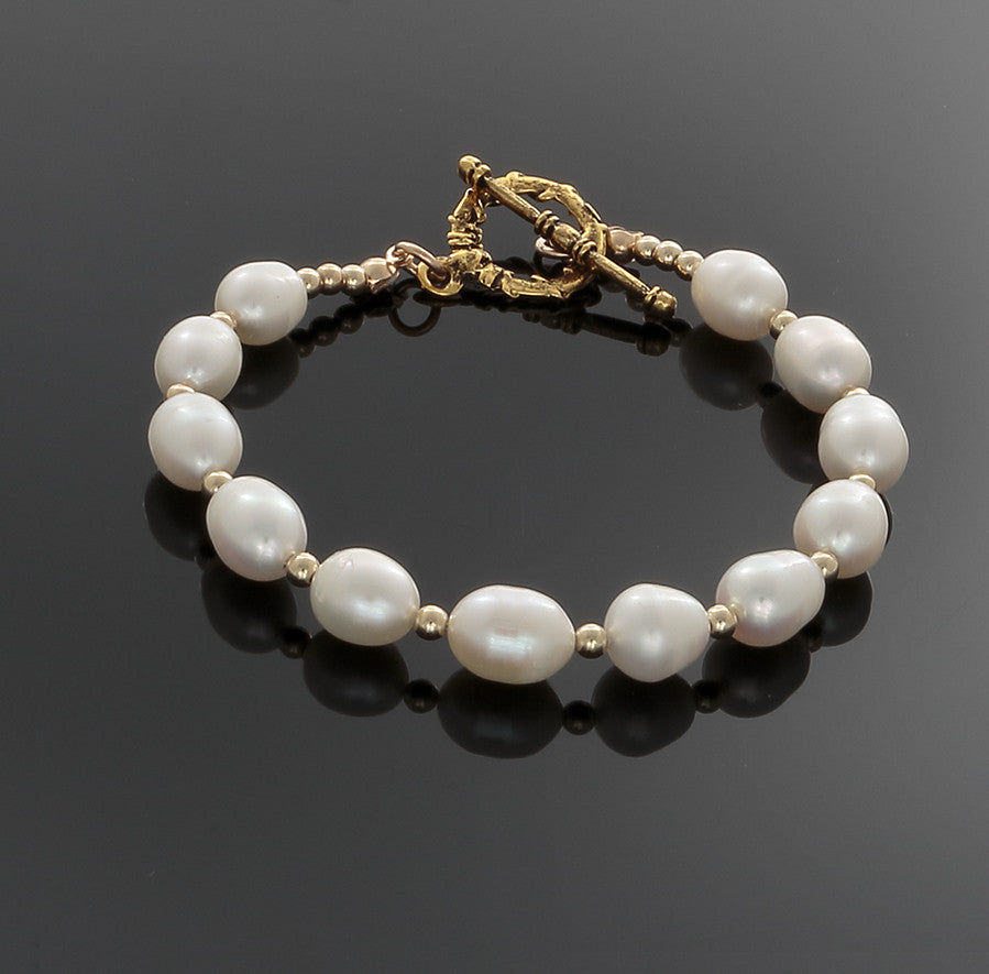 Pearl Wave Bracelet - only with 14k Gold-filled - Finesse Jewelry