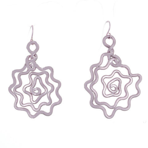 Rose Earrings in Pink - Finesse Jewelry