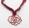 Rose Abstract Pendant necklace - Finesse Jewelry