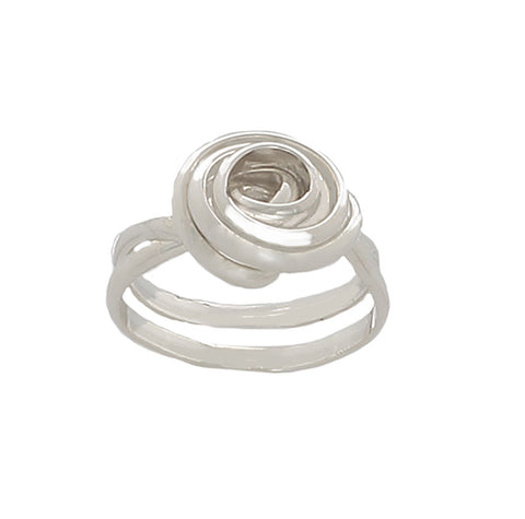 Rose twisted Sterling Silver Ring - Finesse Jewelry