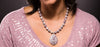 Purple Jasper beaded Necklace with a teardrop Jasper Pendant - Finesse Jewelry
