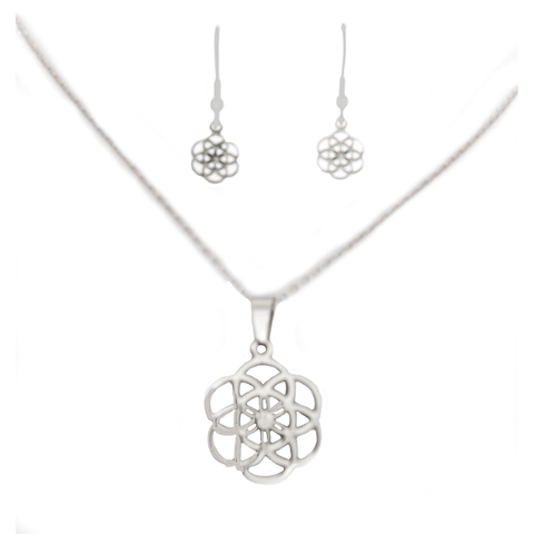 Seed of Life Necklace and Earring Set - Sacred Geometry