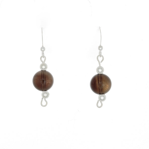 Smokey Quartz Earrings on sterling French Hooks - Finesse Jewelry