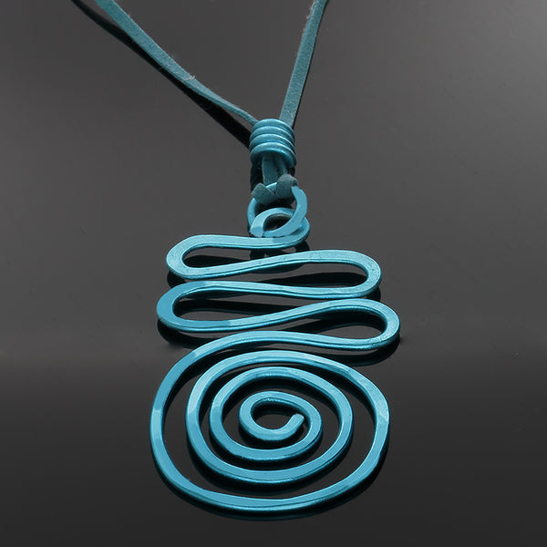 Spiral Wave Abstract necklace (in a variety of colors) - Finesse Jewelry