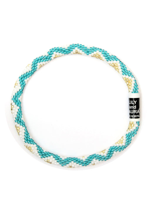 Teal Wave Anklet by Lily and Laura