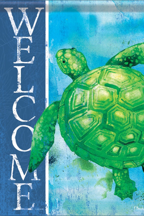 """Green Turtle"" Dura Soft Flag"