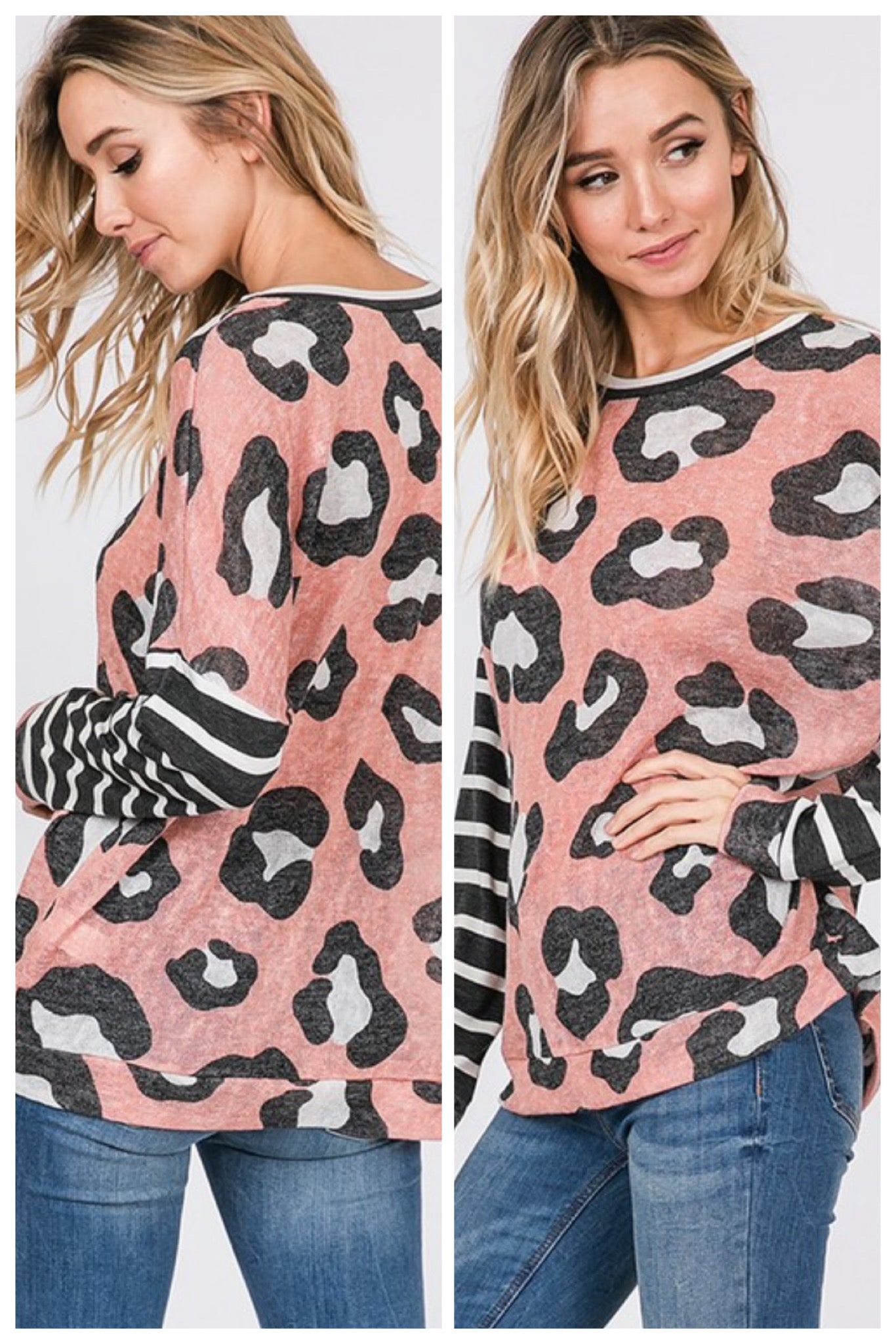 Kasten Large Print Leopard Top