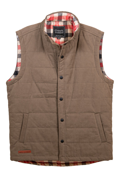 Simply Southern Washington Vest for Men~Brown