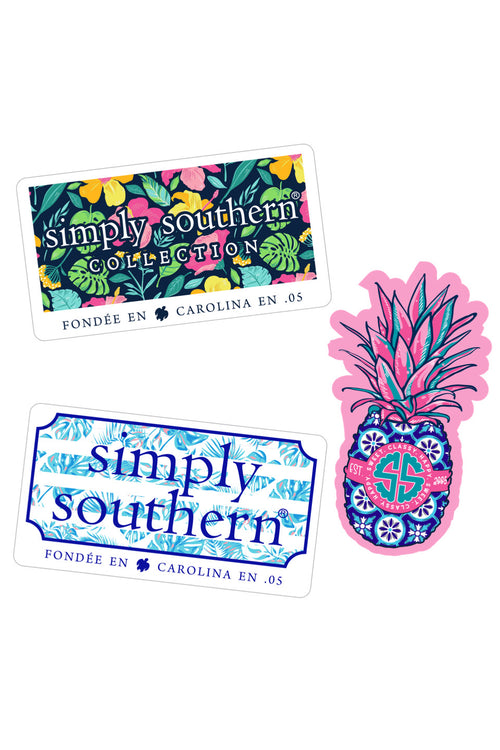 """Tropical"" Sticker 3 Pack by Simply Southern"