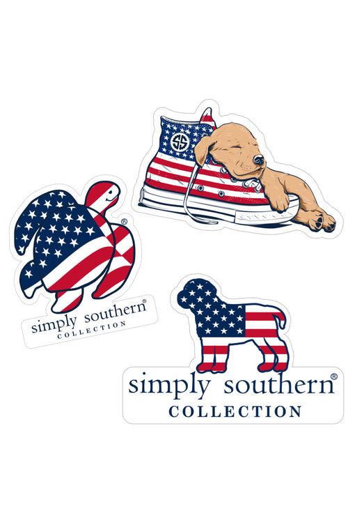 """USA"" Sticker 3 Pack by Simply Southern"