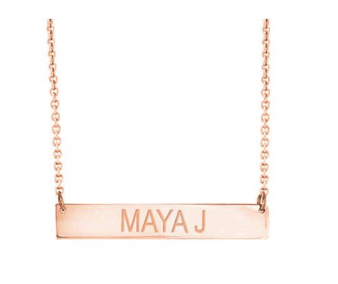 Personalized Bar Necklace by Maya J (Special Order Only!)