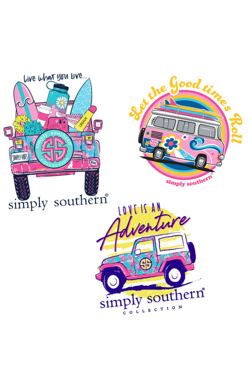 """Car"" Sticker 3 Pack by Simply Southern"