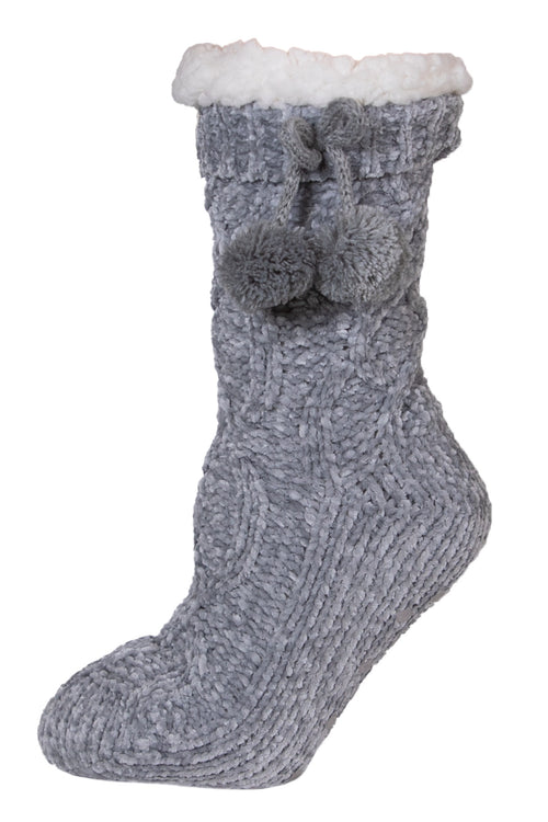 Grey Chenille Camper Socks by Simply Southern