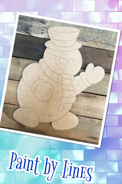 """Frosty"" Wooden Door Hanger ~ Paint Yourself"