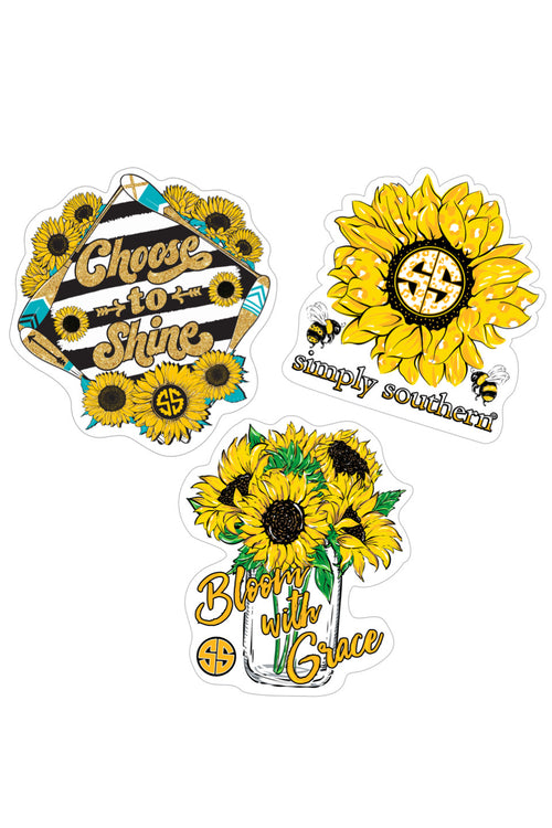 """Sunflower"" Sticker 3 Pack by Simply Southern"