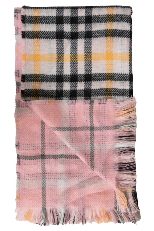 Plaid/Light Pink Double Scarves by Simply Southern