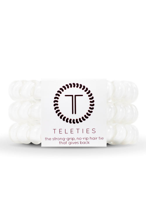 Teleties ~ Coconut White, Small 3 pack
