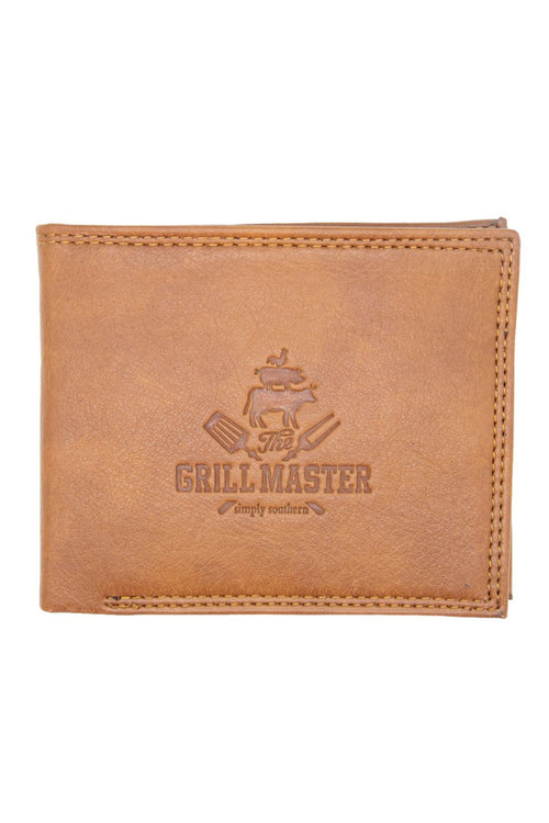 """Grill"" Leather Wallet by Simply Southern"