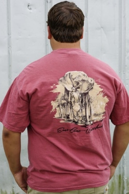 Unspoken Bond Short Sleeve Pocket T-Shirt by East Coast Waterfowl