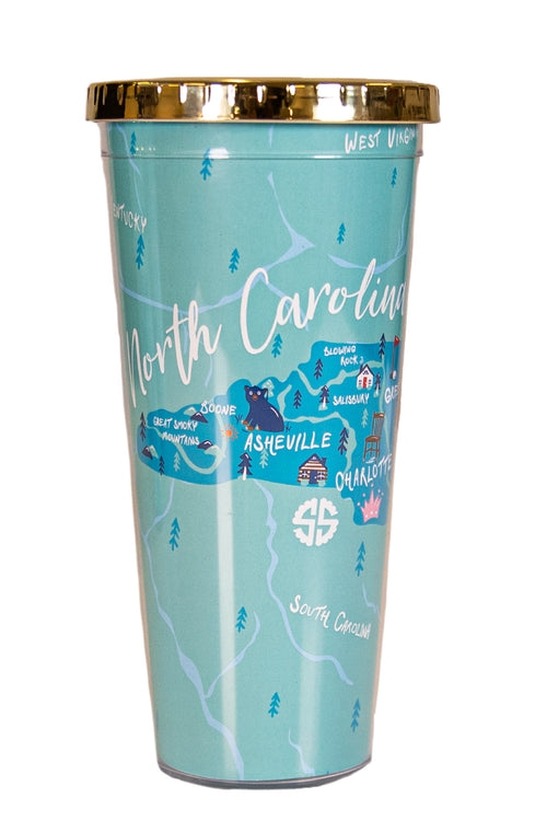 North Carolina State Plastic Tumbler by Simply Southern