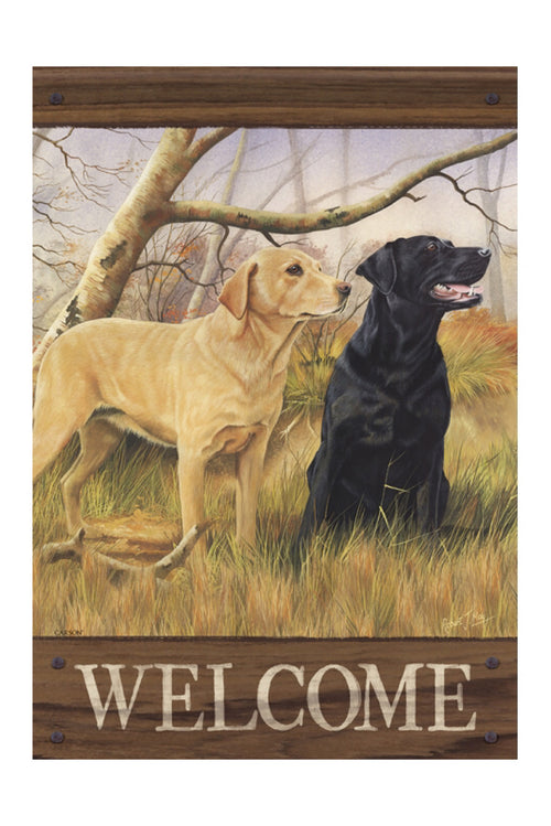 """Sweet Labs"" Dura Soft Garden Flag"