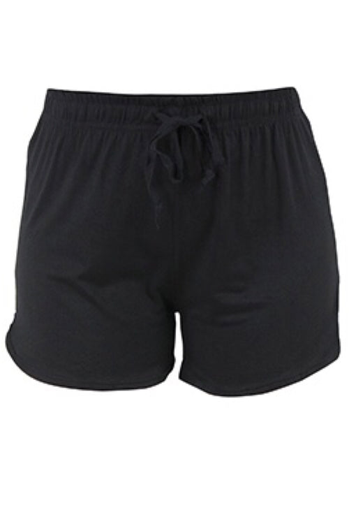 Solid Black Lounge Shorts by Hello Mello