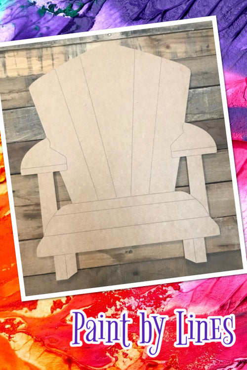 """Beach Chair"" Wooden Door Hanger ~ Paint Yourself"
