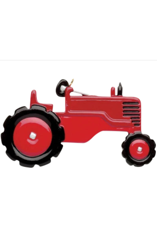 Personalized Ornament ~ Red Tractor