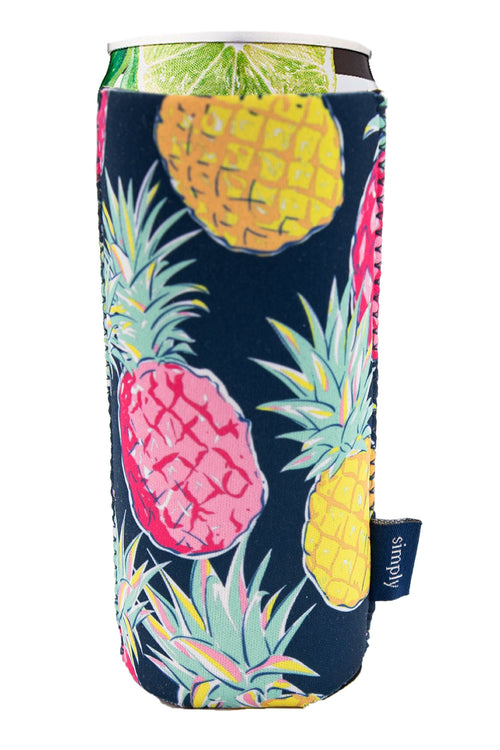 """Pineapple"" Slim Can Holder by Simply Southern"