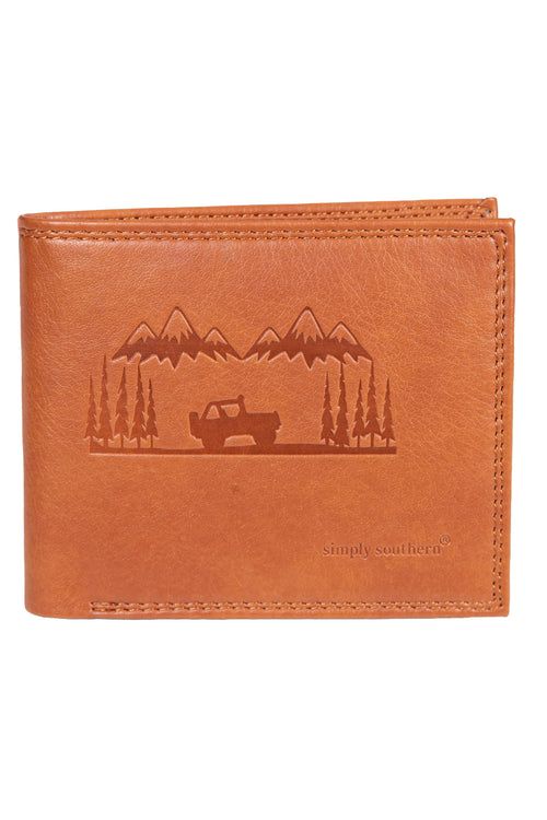 """Mountain"" Leather Wallet by Simply Southern"