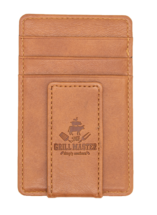"""King Of The Grill"" Leather Money Clip by Simply Southern"