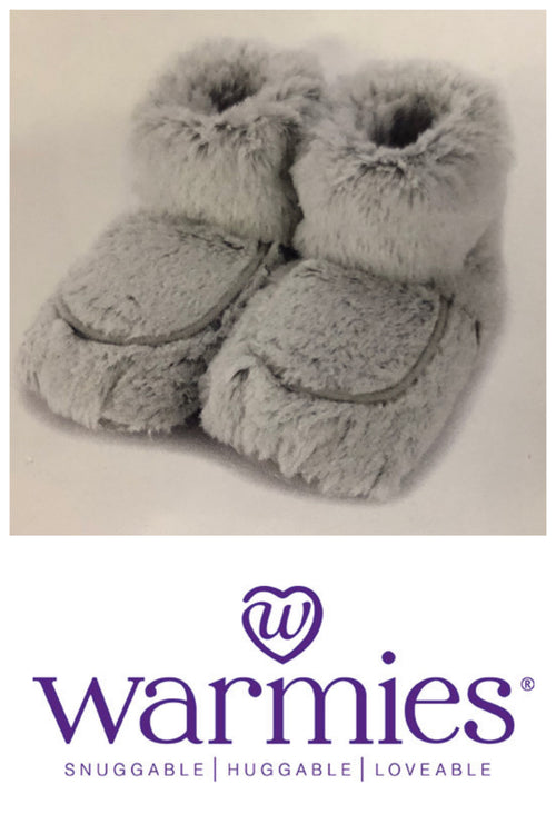 Warmies Wellness Marshmallow Grey Boots