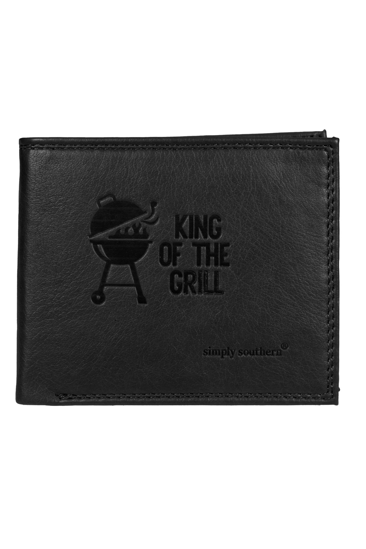 """King of the Grill"" Leather Wallet by Simply Southern"