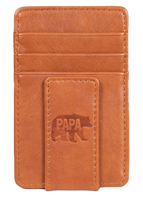"""Papa Bear"" Leather Money Clip by Simply Southern"
