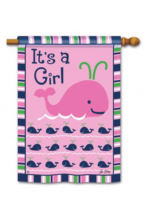 It's a Girl House Flag