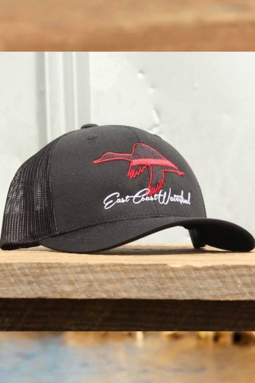 Red Line ECW Duck Snap Back Hat by East Coast Waterfowl