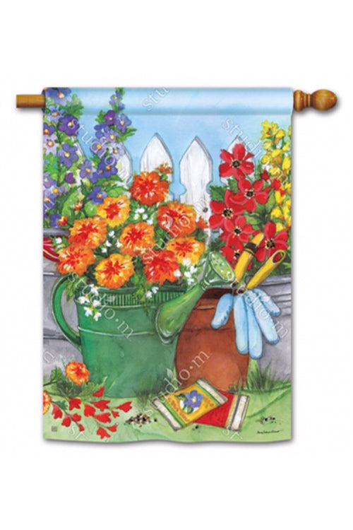 Vintage Watering Can Flag and Mat