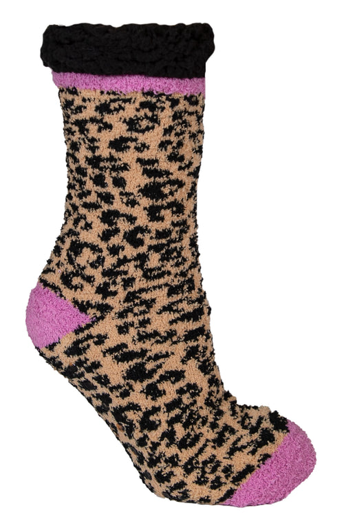 Leopard Pattern Camper Socks by Simply Southern
