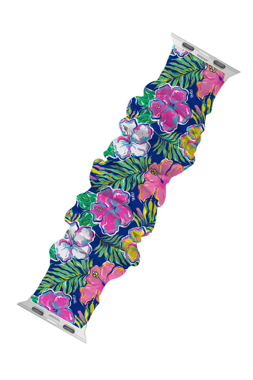 """Tropical"" Scrunchie Watch Band by Simply Southern"