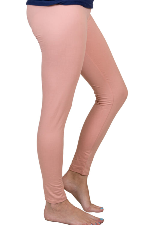 Neutral Pink Butter Soft Leggings by Simply Southern