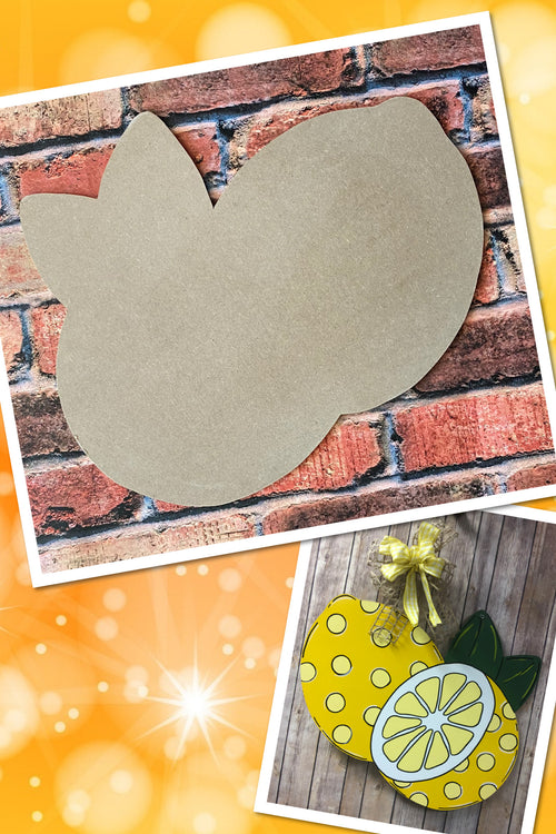 """Lemons"" Wooden Door Hanger ~ Paint Yourself"