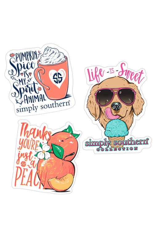 """Sweet and Spice"" Sticker 3 Pack by Simply Southern"